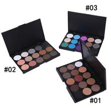 Brand 3 Different New fashion 15 Earth Color Concealer Matte Pigment Eyeshadow Palette Cosmetic Makeup Eye Shadow for women