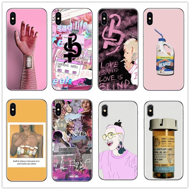 pretty nice ad866 56fc1 US $1.89  Blackbear Hand held rose Hard PC Phone Cases For iPhone X 5S SE 6  6S Plus 7 7 Plus 8 8 Plus Matthew Tyler Musto music producer-in ...