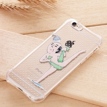 2016 New Anti-shock Funny Cartoon Cases for Iphone 6 6s 6 Plus Transparent Soft TPU Phone Back Cover for Iphone 6 Phone Case Bag
