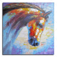 HASYOU HOME BEAUTY Horse Oil Painting Hand Painted Picture Animals Drawing Coloring On Canvas Oil Painting