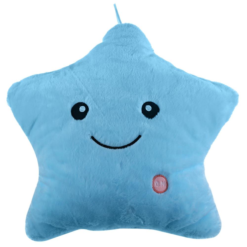 Stuffed Star Plush Lovely Pentagram Toy Energy-Efficient LED Safety Lights Luminous Star Doll Pillow Toy