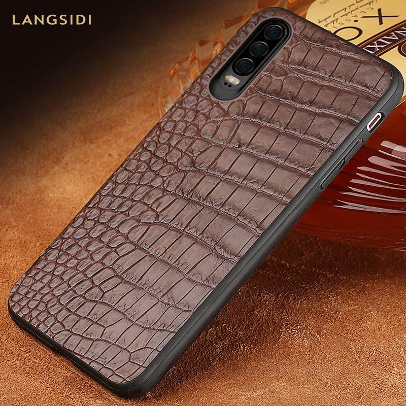 Étui pour huawei p30 pro en cuir de Crocodile de luxe le meilleur étui de téléphone portable pour huawei p20 p30 Lite Mate 20 Coque