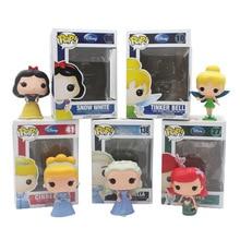 Funko Pop figures Princess Cinderella Tinker Bell Ariel Snow White PVC Anime Movie Vinyl Cute Action Figure Collection Kids Toys
