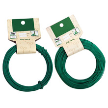 Flexible Garden Twist Tie Cable Wire Reel Roll Plant Grow Support Gardening Cable Ties, plastic coated Wood Cable Rope
