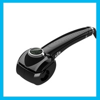 New Circular LCD Pro Curler Heating Styling Tool Automatic Curl Magic Hair Wand EU US Plug Pear big sponge ceramics Freeshipping