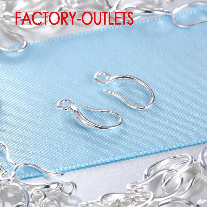 925 Sterling Silver Hooks Coil Ear Wire Earrings Leverback Earwire 100 Pcs Lot