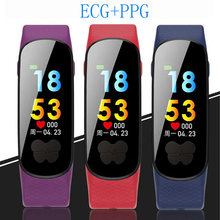 ECG+PPG Smart Band Blood Pressure Measurement Heart Rate Monitor Pedometer Sports Bracelet Watch for IOS Android IP67 Waterproof все цены