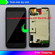 цена на Original Display For Nokia Microsoft Lumia 630 635 LCD Touch Screen Digitizer Assembly with Frame For NOKIA 635 630 LCD Display