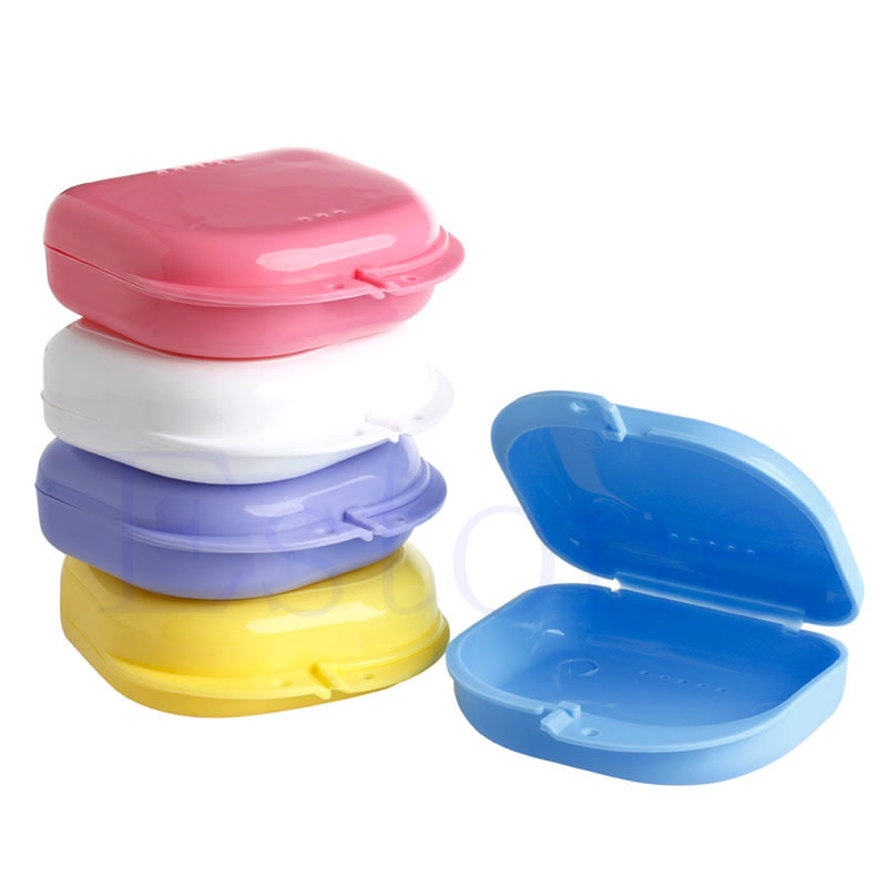 Baby Teeth Box Mouth Guard Case Dental  Retainer Case Plastic Denture TrayTeeth Container Denture Box Baby Keepsake-15