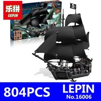 Black Pearl Building Blocks Bricks Set LEPIN 16006 804pcs Pirates Of The Caribbean The Figures Compatible