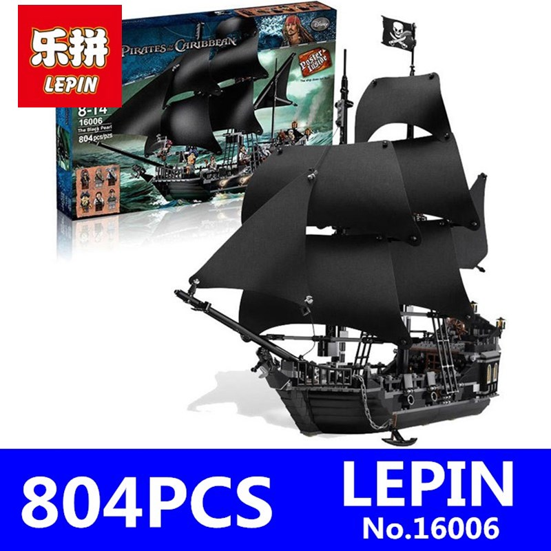 LEPIN 16006 804pcs Pirates of the Caribbean Black Pearl Building Blocks Bricks Set The Figures Compatible with Lifee Toys Gift lepin 16006 804pcs pirates of the caribbean black pearl building blocks bricks set the figures compatible with lifee toys gift