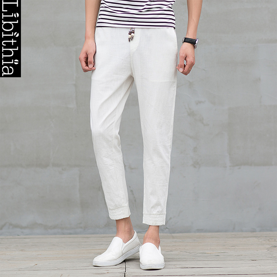 cheap white linen pants for men - Pi Pants