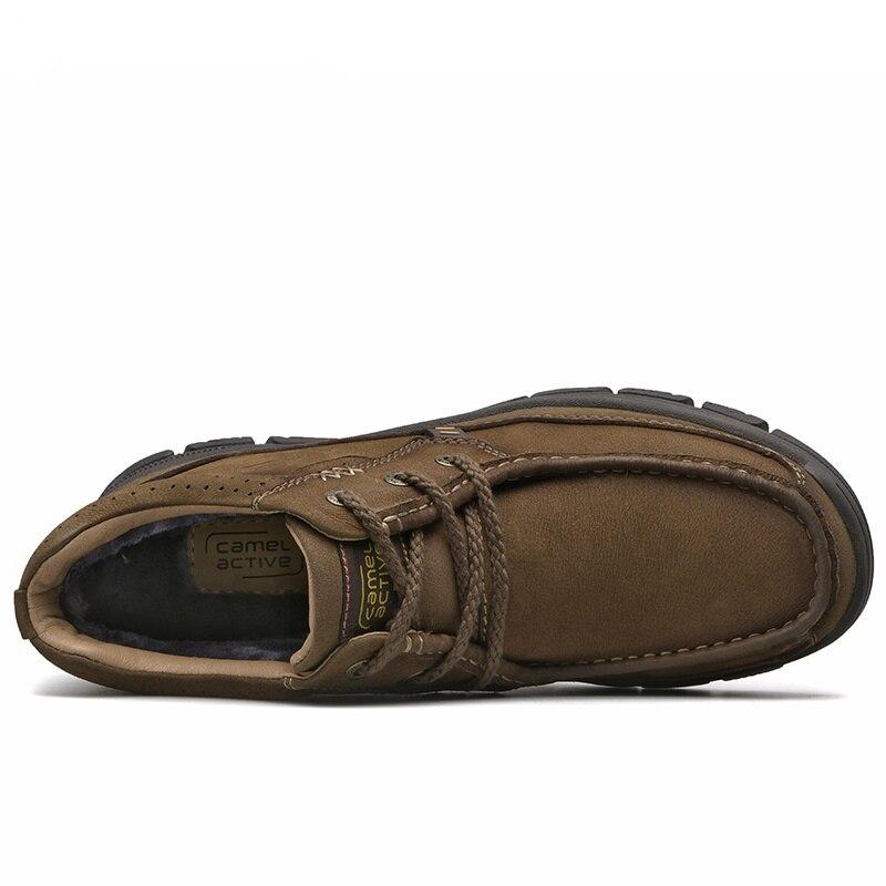 Cuero Libre Al Zapatilla Nieve Zapatos Aire De 38 Botas Hombre Khaki ...