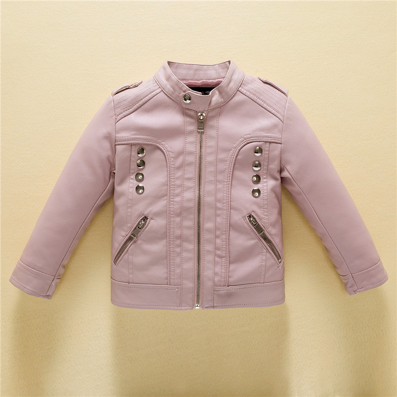 18b6b43d7 2018 New Autumn Children Leather Jacket for Boys Fashion Motorcycle ...