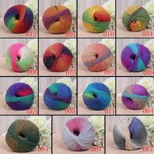 Wool Yarn Scores Needles Thread Crochet Knitted Chunky Hand-Woven 1ball Colorful X50g
