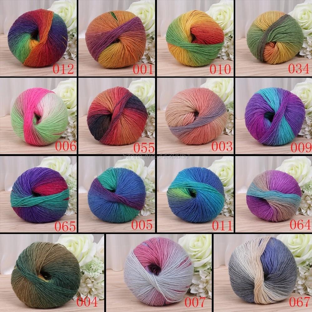 C 1Ball x50g Soft Worsted Chunky Hand Sweater Wool Knitting Yarn DIY Gift 214