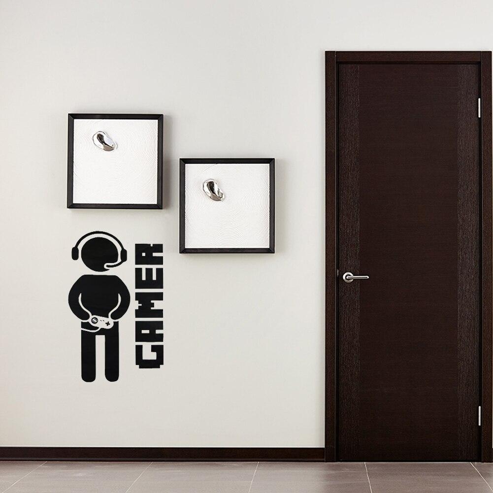 Видео игры игровой геймер джойстик Наклейки на стену съемный Детская комната игровая комната настенные Книги по искусству Декор Стикеры