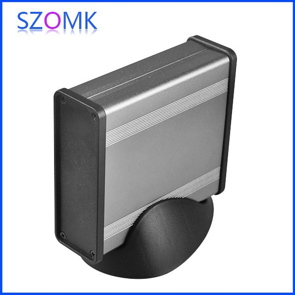 4 pcs/lot new and hot selling aluminum junction box desk top for TV box which in dark gr ...