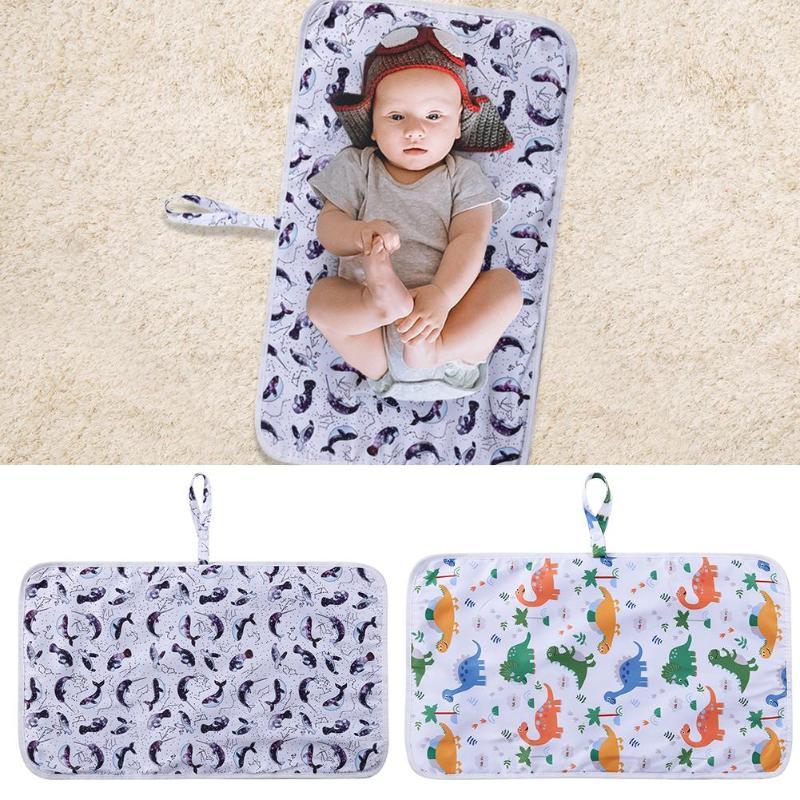 Baby Waterproof Sheet Urine Changing Pad Urine Pad Portable Cartoon Reusable Infant Baby Nappy Mats Play Mat Diaper Changing Mat