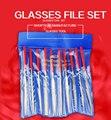 glasse file set ,metal material 10pcs/set glasses fix tool free shipping