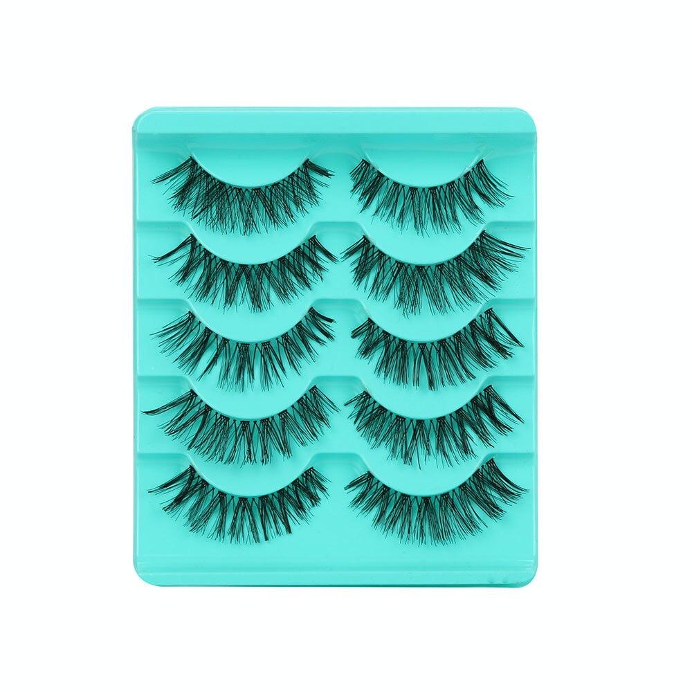 5 Pair False Eyelashes Lashes Voluminous Eye Lashes Wispy Makeup Beauty Extension Tools Wimpers Faux Cils Dropshipping YJJ2