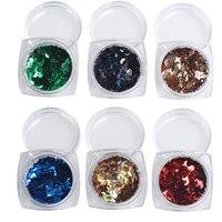 5set 1set 12 Bottles 12 Colors Nail Art Nail Glitter Acrylic 3D Moon Glitter Shape