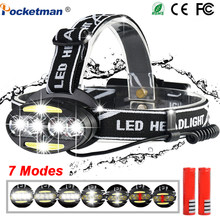 30000LM Rechargeable LED HeadLamp 4*T6+2*COB+2*Red LED Bicycle Head Light torch Lamp Outdoor Camping Flashlight With USB(China)