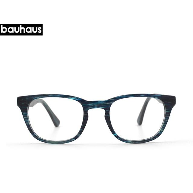 1032e353f7 bauhaus Italy design Acetate women Eyeglasses frame retro optical brand  designer myopia clear glasses frame men