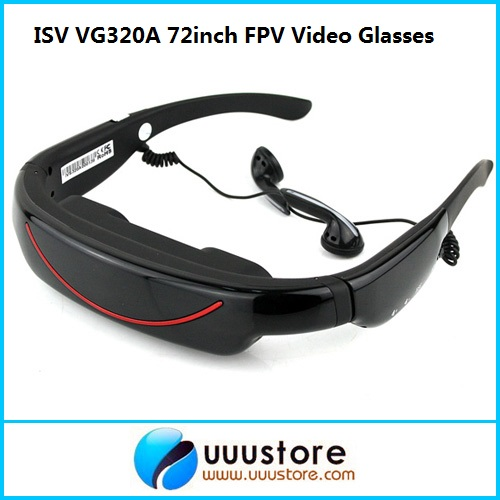 цена на Fpv goggles 72 inch virtual screen16:9 support 8-32G card with AV-in Portable Video Glasses IVS VG320A From UUUSTORE