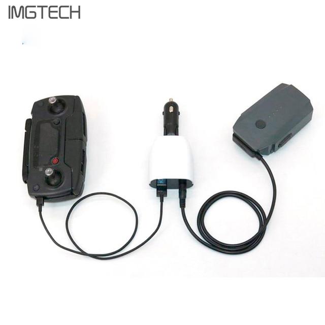Cargador de coche inteligente batería y control Remoto Portátil de carga pantalla digital para DJI MAVIC pro Cámara Dron Accesorios
