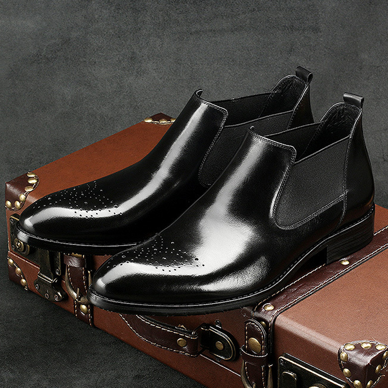 New Arrival Man Cowboy Outdoor Riding Shoes Male Italian Designer Genuine Leather Pointed Toe Men's Chelsea Ankle Boots AC50 new summer designer man handmade breathable chelsea shoes male genuine leather men s round toe cowboy riding ankle boots ss347
