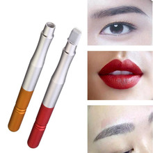 Semi Permanent Makeup Eyebrow Tattoo Manual Alloy Pen For 3D Embroidery No Scab Shading Fog Microblading Eye Brow Lip Tebori