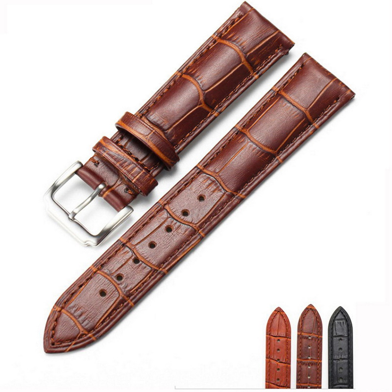 neway Durable Leather Watch Band Strap Armband Armbanduhr Schwarz Braun für Mann Frau 14mm 16mm 18mm 20mm 22mm 24mm