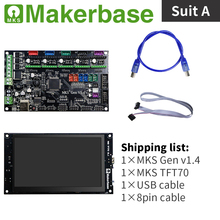 MKS Gen v1.4 and MKS TFT70 kits for 3d  printers developed by Makerbase