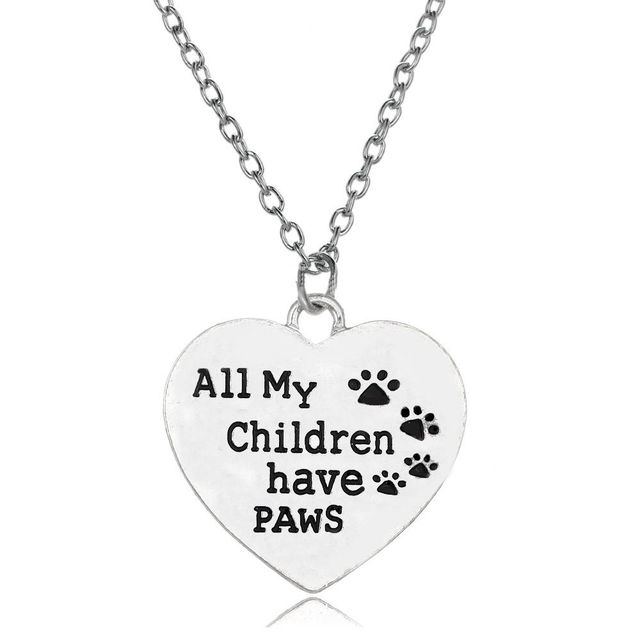 Dog Heart Charm Necklace 2