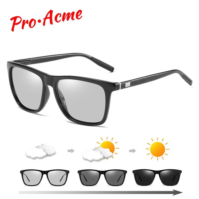 e3a659bbec Fotocromáticos gafas de sol camaleón lente de bloqueo de luz azul de los  hombres gafas para