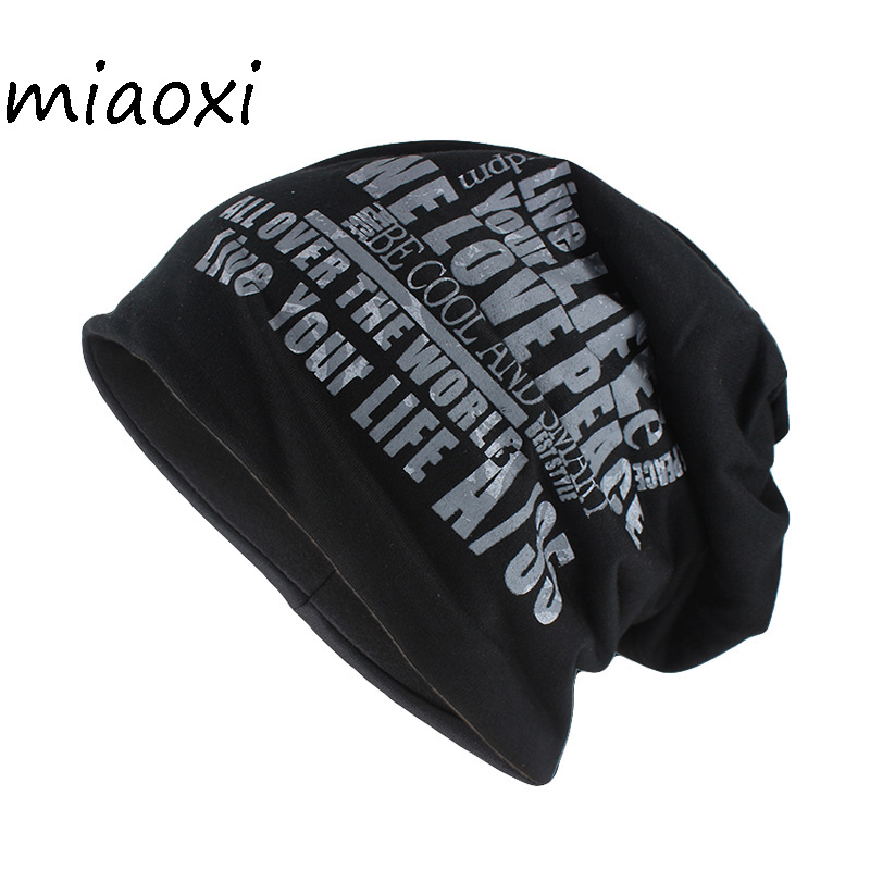 Miaoxi New Adult Unisex Cotton Warm Hat For Men Winter Beanies Skullies Letter Brand Top Sell Women Gorros