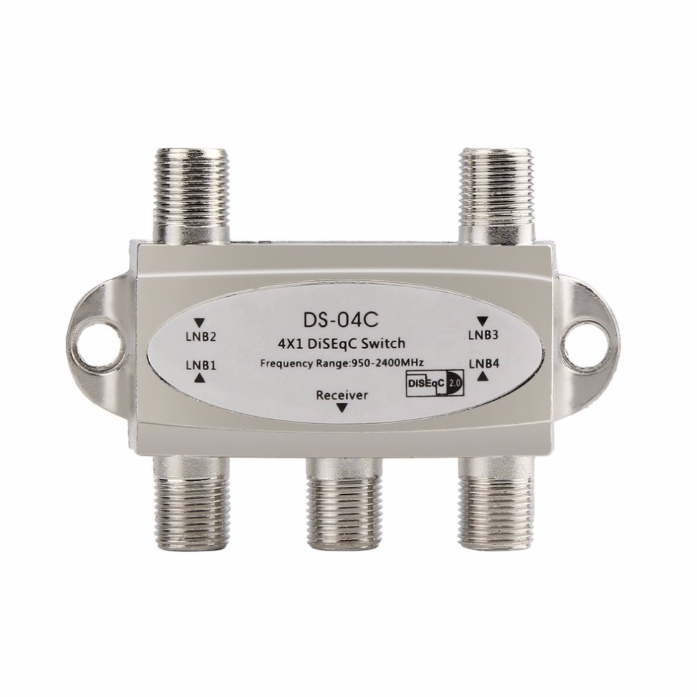2017 New Wideband 4x1 DiSEqC 2.0 Model 4x1W Premium Satellite Switch FTA Dish LNB High Isolation Switch For Satellite Receiver
