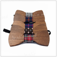 HOT SALE Formal Commercial Wooden Bow Tie Male Solid Color Marriage Bow Ties For Men Candy