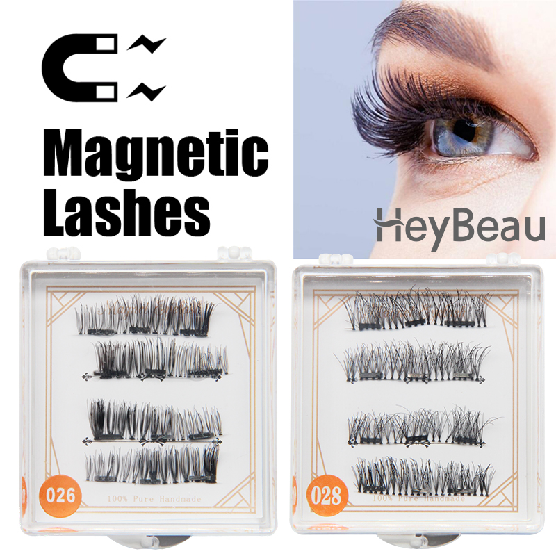 Fake Eye Lashes MakeUp sets Hot 3d mink strip lashes Magnetic False Eyelashes Natural Beauty Full Strip Magnet Hair Extension