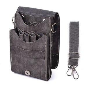 Image 1 - Funda para tijeras soporte para tijeras de peluquero profesional, bolsa para herramientas de peluquero, estilista, contenedor de Peine