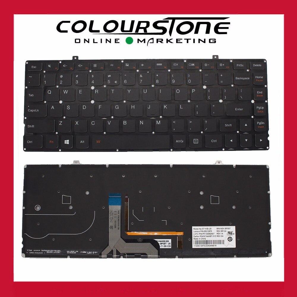 Teclado US laptop keyboard For Lenovo Ideapad yoga 2 pro 13' US BLACK With Backlit notebook keyboard new original laptop keyboard for lenovo thinkpad t460p t460s us keyboard english with backlit backlight 00ur395 00ur355