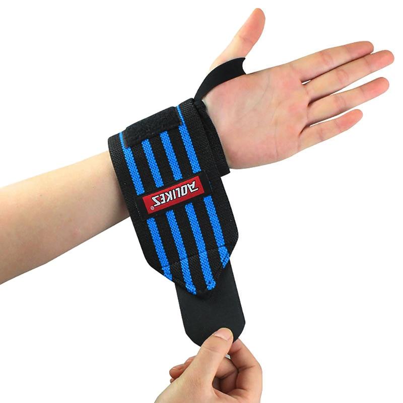 LYP 2Pcs Aolikes Weight Lifting Training Boxing Handwraps Wrist Wraps Bandage Hand Support Gym Sport Straps Cotton Grip Brace