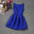 Novo 2017 Meninas Vestido de Verão Crianças Roupas Meninas Vestuário Crianças Vestido de Festa Da Princesa Do Vintage Vestidos Da Menina de Flor Venda Quente