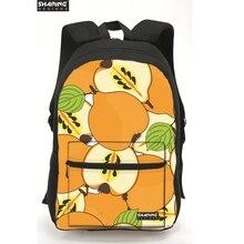 Новый Lemon печати дамы холст рюкзак фруктовые Стиль женские рюкзаки для девочек школьные рюкзаки Mochila Feminina