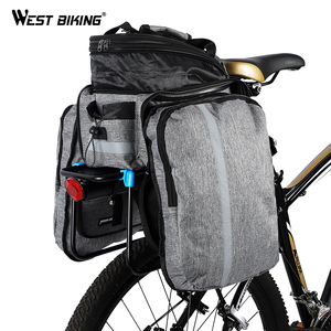 Image 3 - WEST BIKING Waterproof Bike Seat Pannier Pack Luggage Cycling Bag 10 25L Bicycle Pannier Bag Rear Rack Trunk Bag With Rain Cover