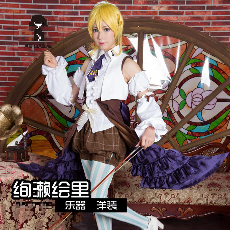 Love Live Eli Ayase Cosplay Lovelive School Idol Project ASCOSING Doujin Western Style Dress Costume Japanese Anime Cosplay