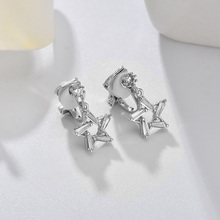 Korean Fashion Gold Silver Star Ear Cuff Shiny CZ Zircon No Hole Small Clip Earrings no piercing