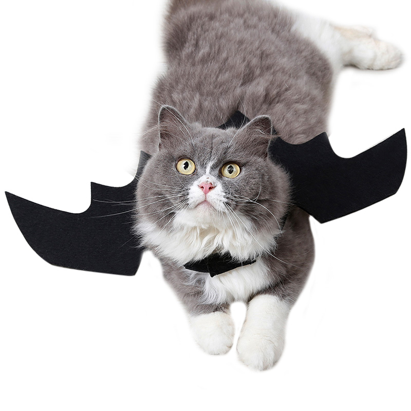 Hoomall Funny Cats Cosplay Costume Halloween Pet Bat Wings Cat Bat Costume Fit Party Dogs Cats Playing Pet Accessories