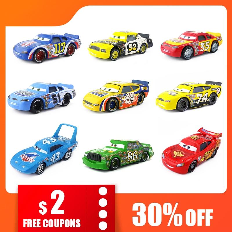 Disney Pixar Cars Racers No.4-No.123 1:55 Metal Diecast Toy Car Kids Boys Gifts